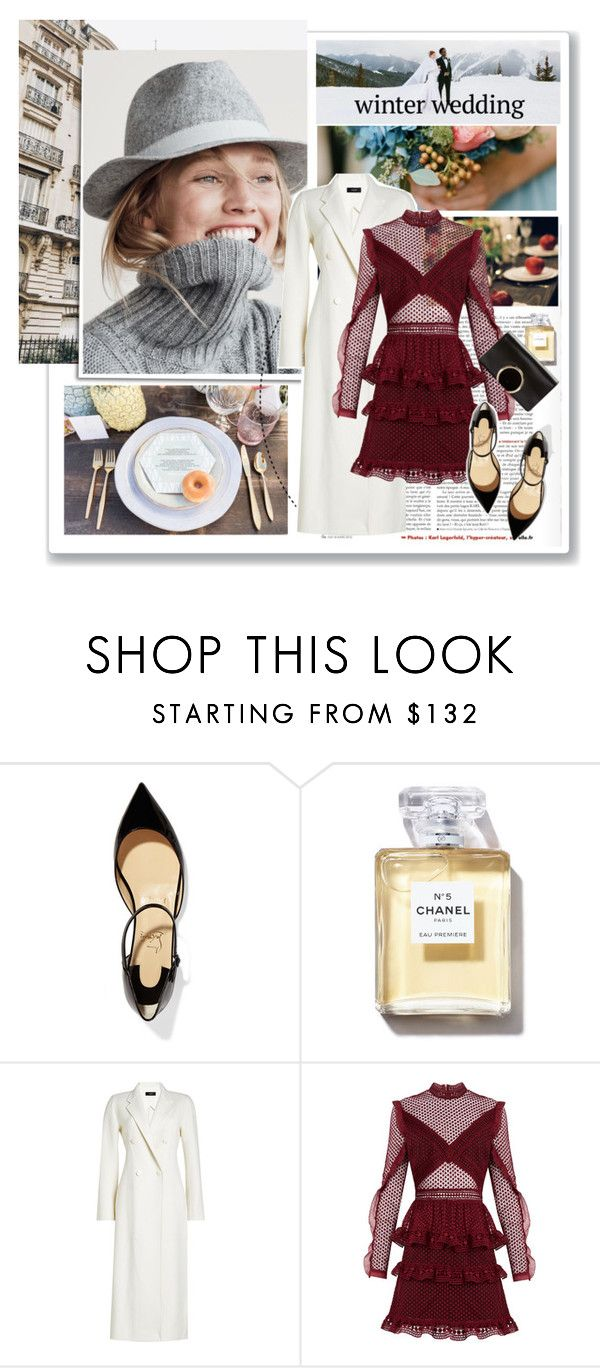 """Sin título #296"" by marroa-garcia ❤ liked on Polyvore featuring J.Crew, Alpine, Christian Louboutin, Chanel, Joseph, self-portrait and Chloé"