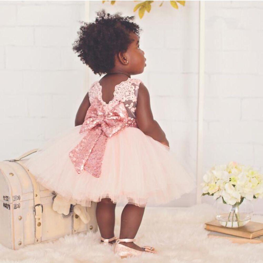 spring summer baby girls christening gown sequins halter
