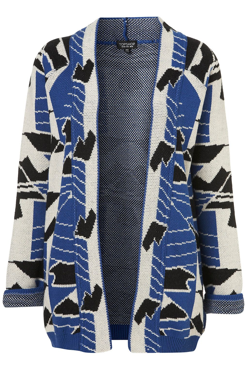 Knitted Geo-Festival Cardigan, $92.00 at Topshop.