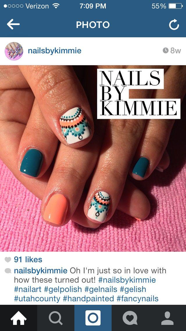 Aztec nails | Nails, Aztec nails, Yellow nails