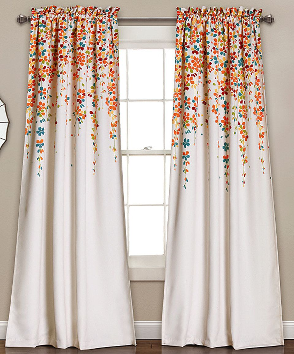 sheer sale printed comfort curtain window ease set orange with discounted tangerine best curtains luxury elegant style cheap bedding look buy panel grommet