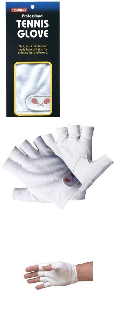 Damen Bekleidung Tourna Women Youth Half Finger Tennis Glove Sheepskin Leather Right Hand Medium