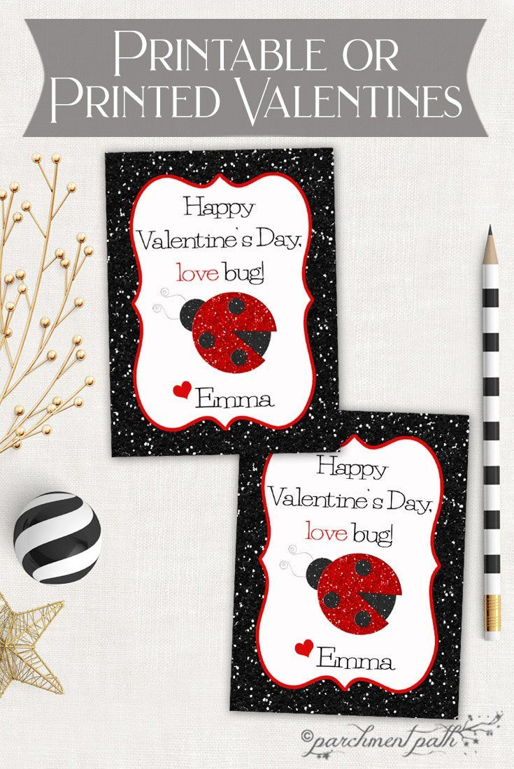 love bug valentines  personalized valentine cards