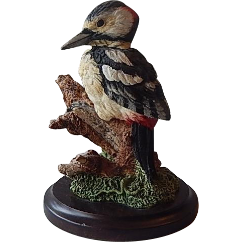 Great Spotted Woodpecker Bird Figurine Spotted