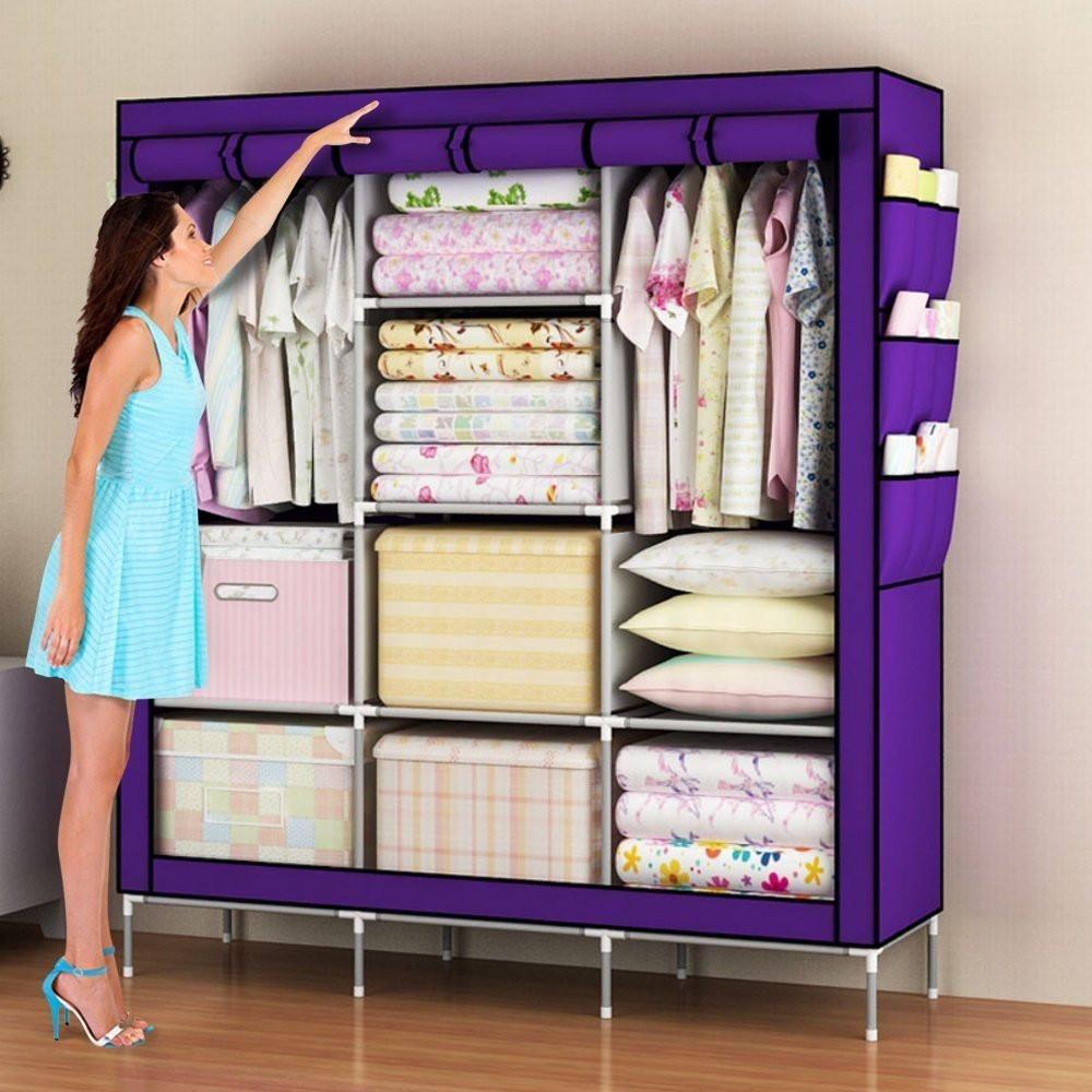 Amanda Home Portable Clothes Closet Wardrobe Storage Organizer