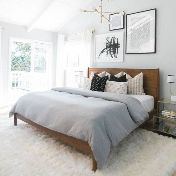Soft grey walls + white ceiling in master bedroom | Treehouse ...