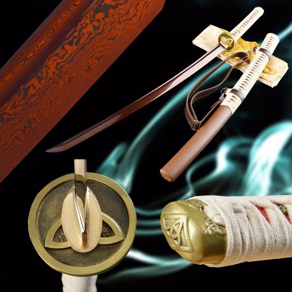 New Red Blade Handmade Japanese Samurai Katana Top Quality