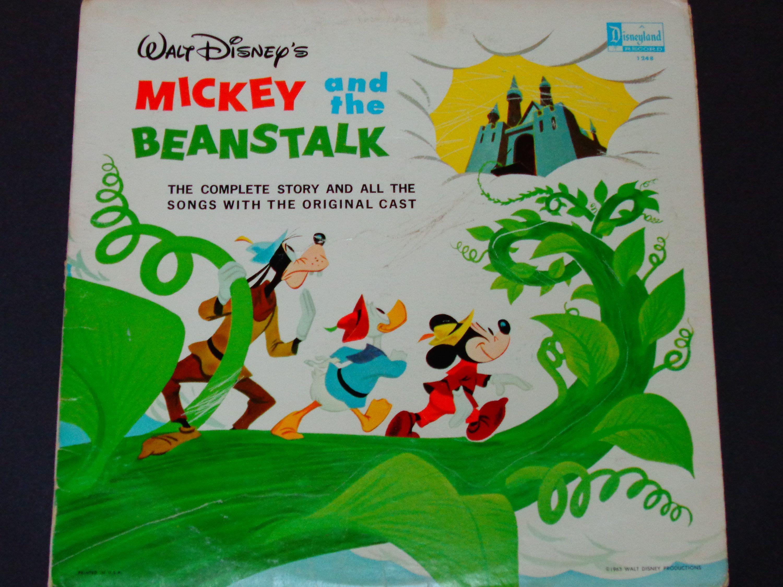 Walt Disney Mickey And The Beanstalk Story Songs Disney Records Disney Mickey Disney Fun