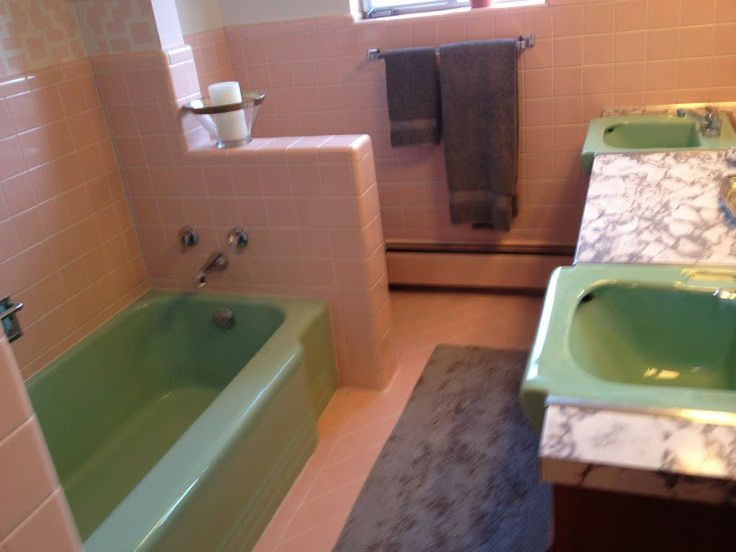 Charmant Pink Mid Century Bathroom, Save The Pink Bathroom, Green Art Deco .