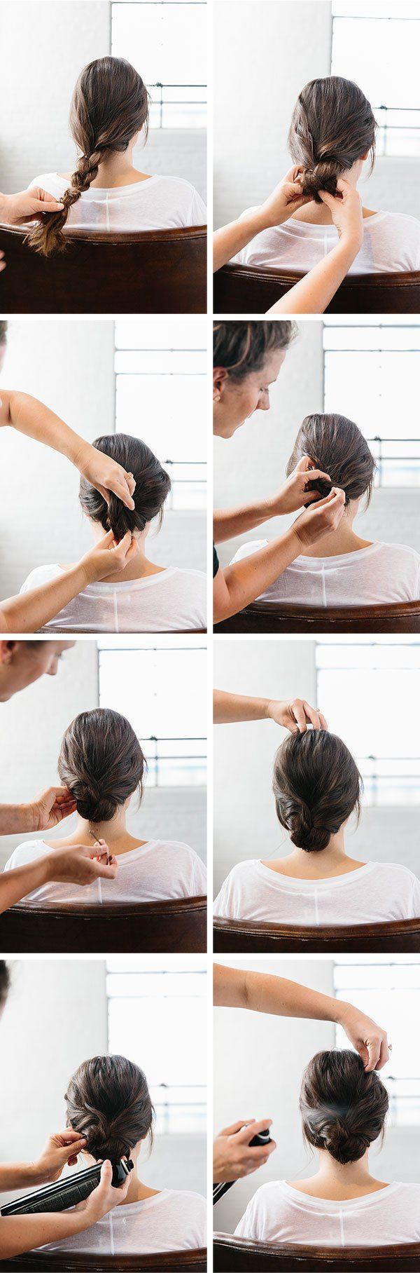 A braided up do in easy steps hair style hair makeup and makeup