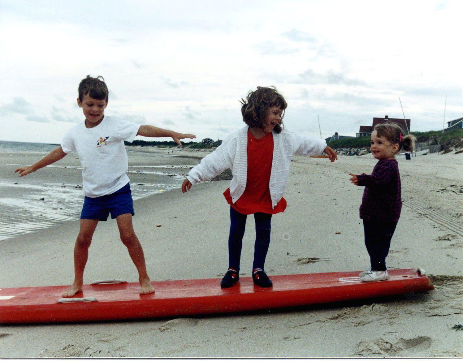Kids on Corporation Beach, Dennis MA 1992 photo by Michele Nelson