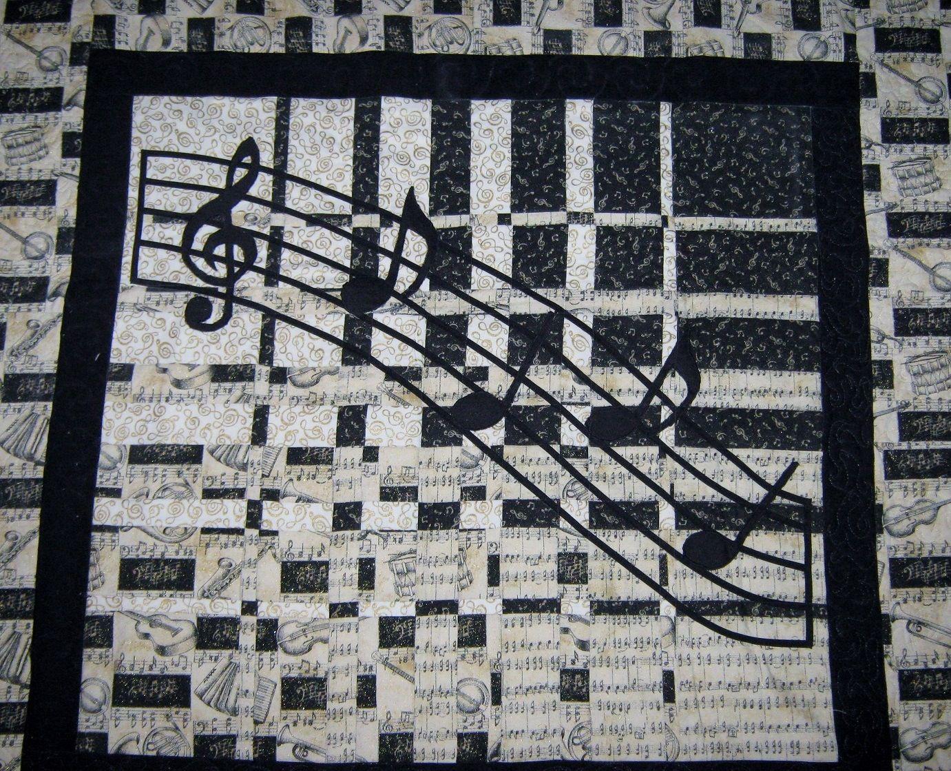 Music quilt idea | Music quilt ideas | Quilts, Quilt