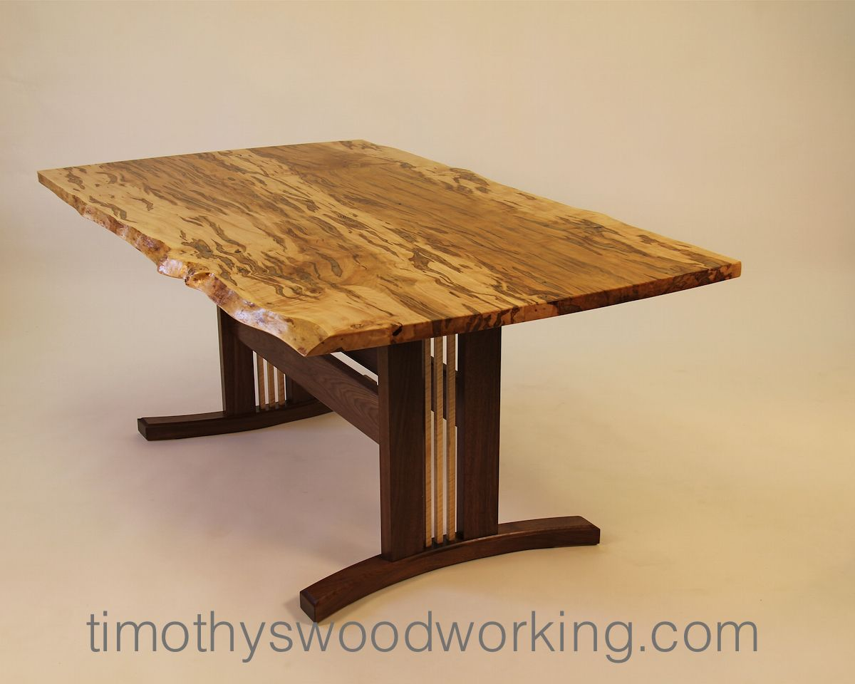 Live Edge Slab Dining Table By Tim Carney Timothy S Fine