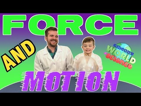 Force And Motion Cool Science Experiments For Kids Gideon S World Of Science Youtube Force And Motion Science Experiments Kids Cool Science Experiments