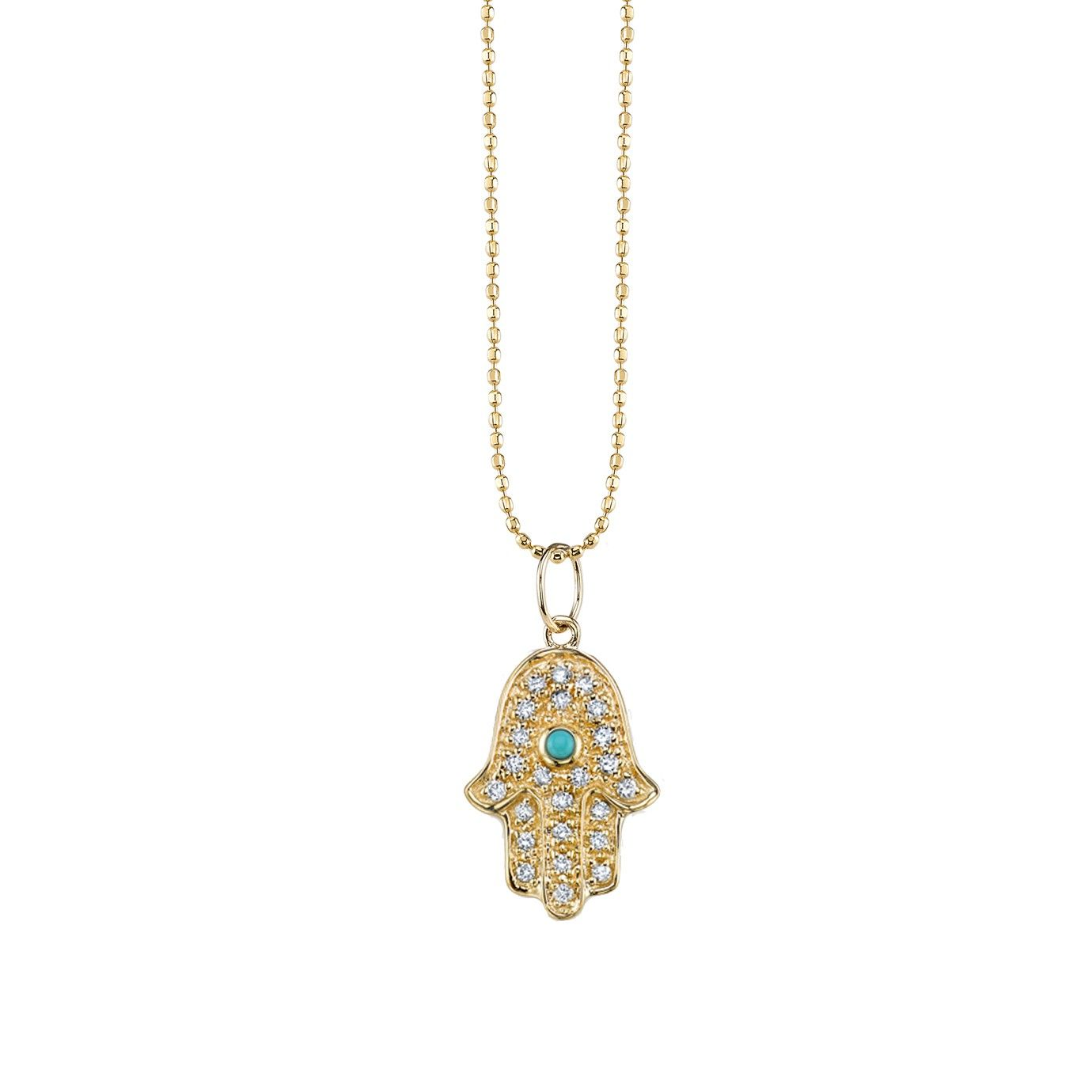 Yellow gold hamsa necklace with turquoise diamonds wishlist yellow gold hamsa necklace with turquoise diamonds aloadofball Gallery