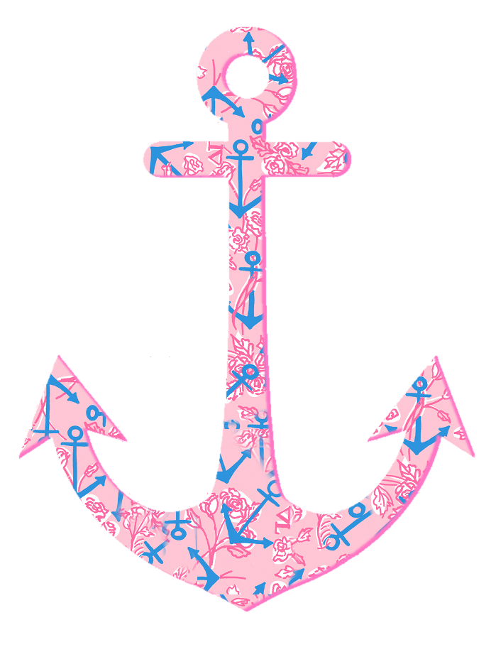 Lilly Pulitzer Delta Gamma Anchor. Thought of you @Kelsey ...