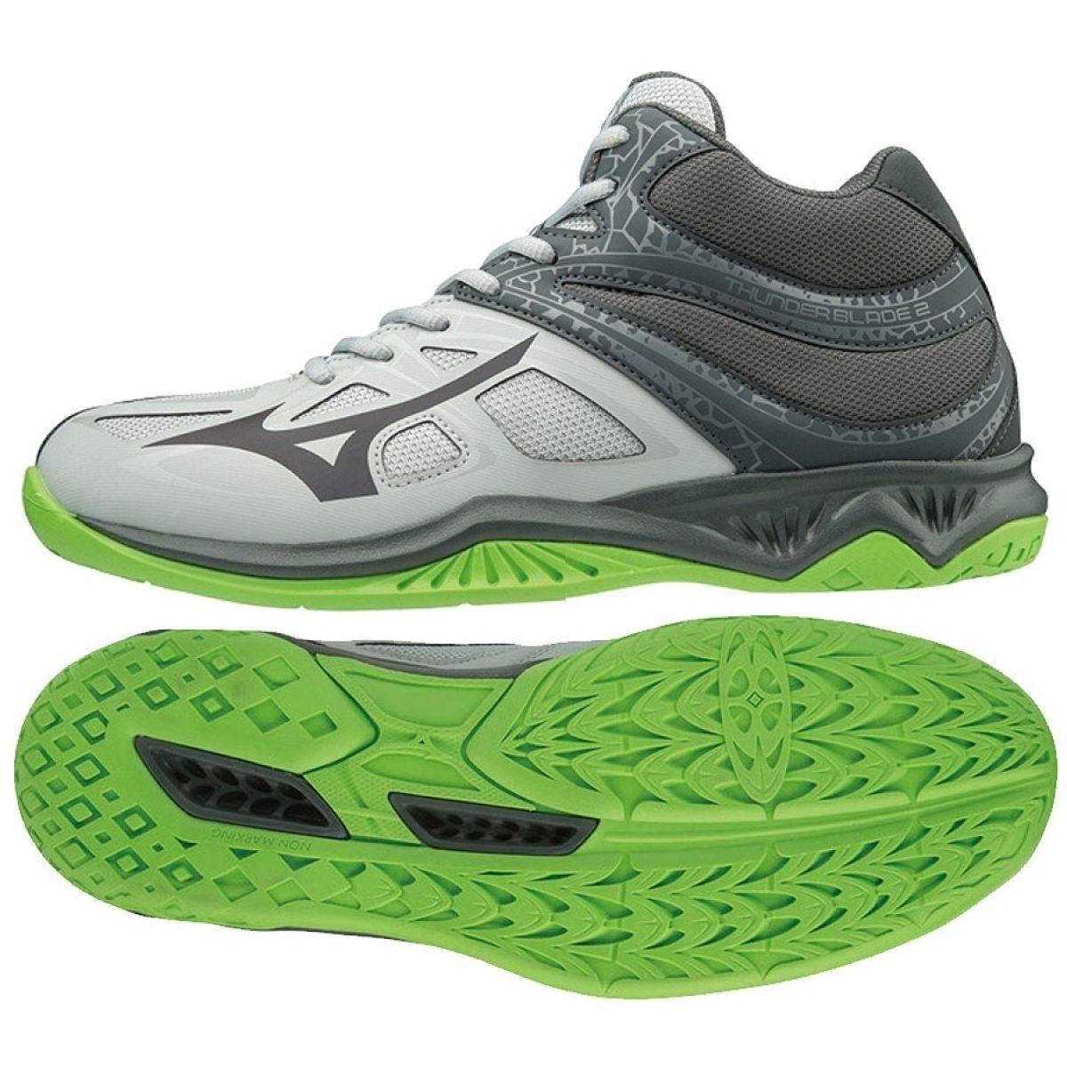 Mizuno Thunder Blade 2 Mid M V1ga197537 Shoes Grey Gray Silver With Images Mizuno Shoes Mizuno Shoes