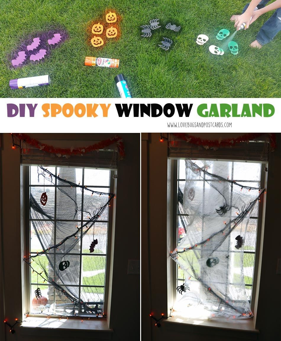 DIY Spooky Front Porch Halloween Decorations Halloween garland - Spooky Halloween Decorations