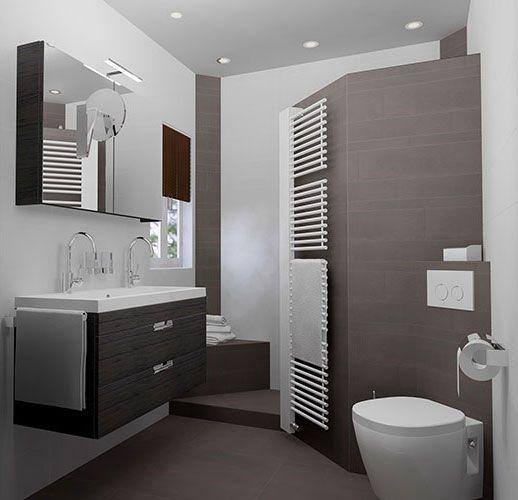 Kleine badkamer (200x187cm) met inloopdouche. 360° view en gratis 3D ...