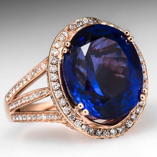 macy at le diamond tw ring and blue s ct t lyst jewelry rose in tanzanite only vian gold w