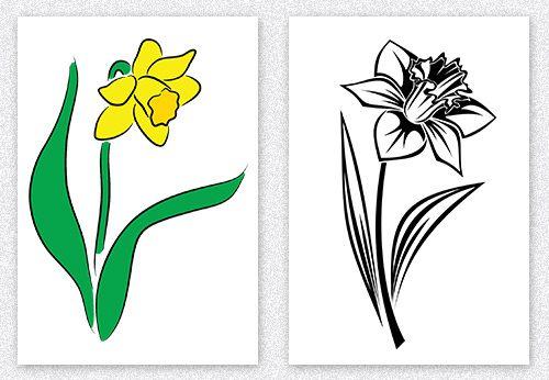 Daffodil Tattoo Single Flower Design Daffodil Tattoo Flower Tattoo Drawings Flower Tattoo Hand