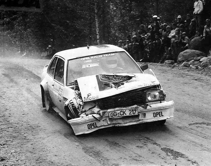 Henri Toivonen-Fred Gallagher, Opel Ascona 400 1000Lakes rally v.1982.