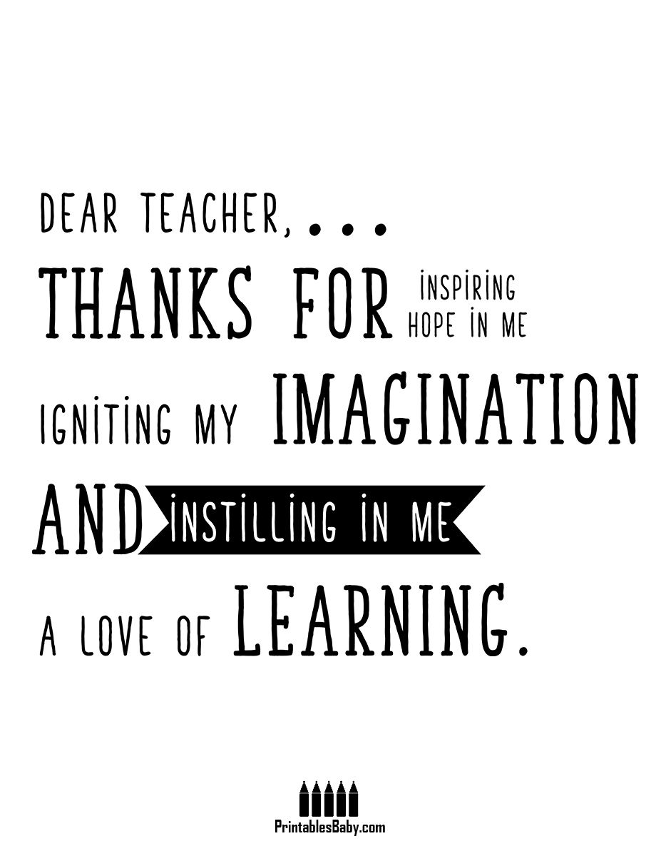 Teacher Thank you   Free Printable Holiday Posters   Pinterest ...