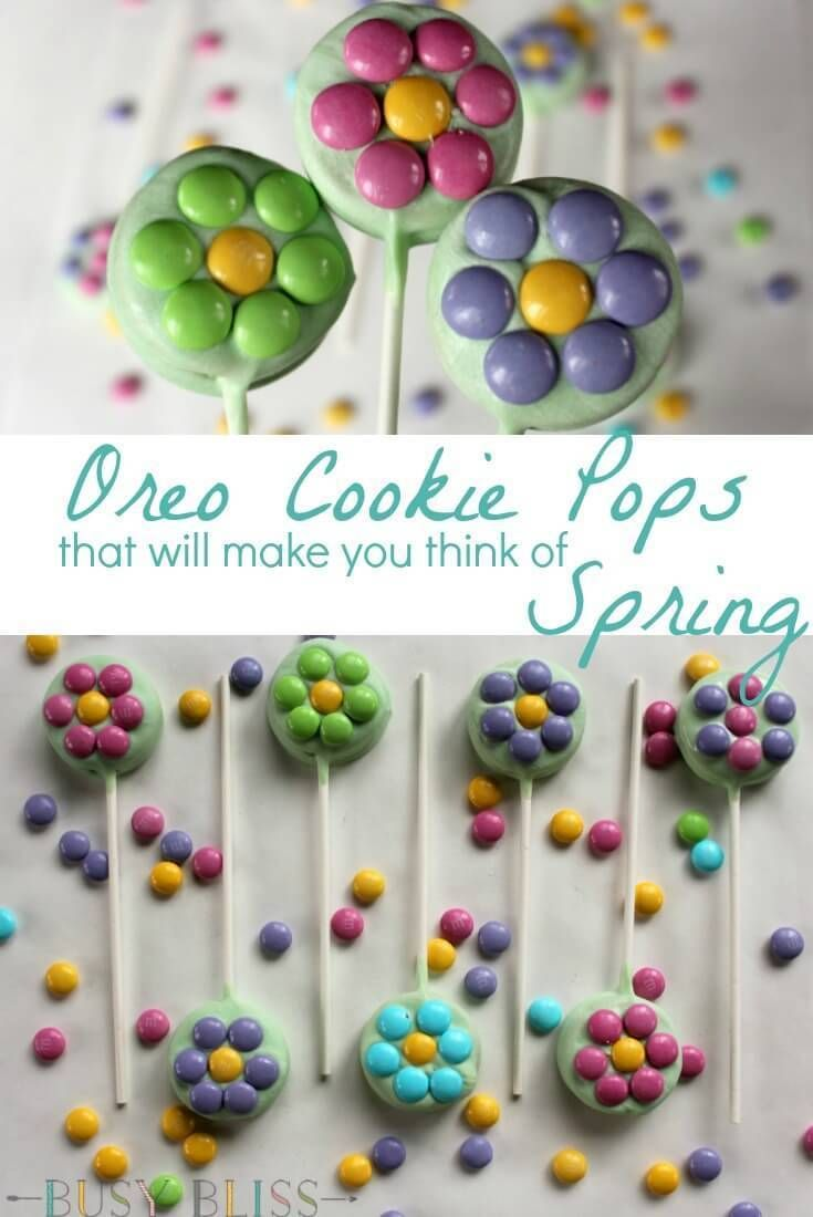 Oreo Cookie Pops That Will Make You Think of Spring #oreopops