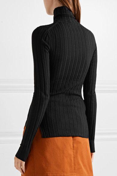 1d681847ac9 Acne Studios - Corina Ribbed Merino Wool-blend Turtleneck Sweater - Black