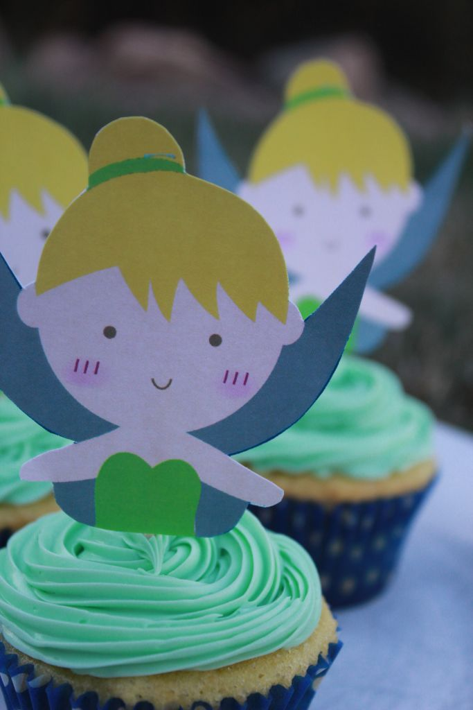 Tinkerbell Cupcake Topper Printable File | Cupcake toppers ...