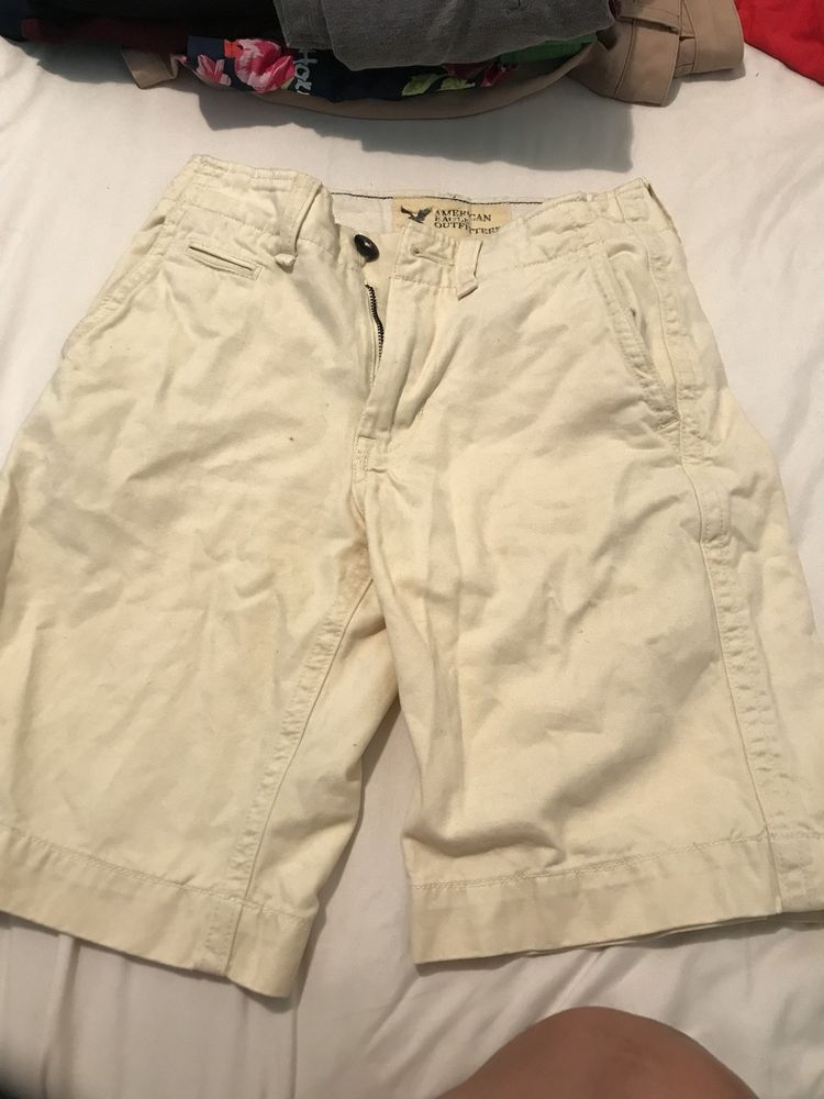 509b2970a1 American Eagle mens shorts beige/yellow 28 waist classic length ...