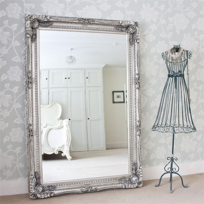 Grand Silver Full Length Mirror   Decorative mirrors, Dressing ...