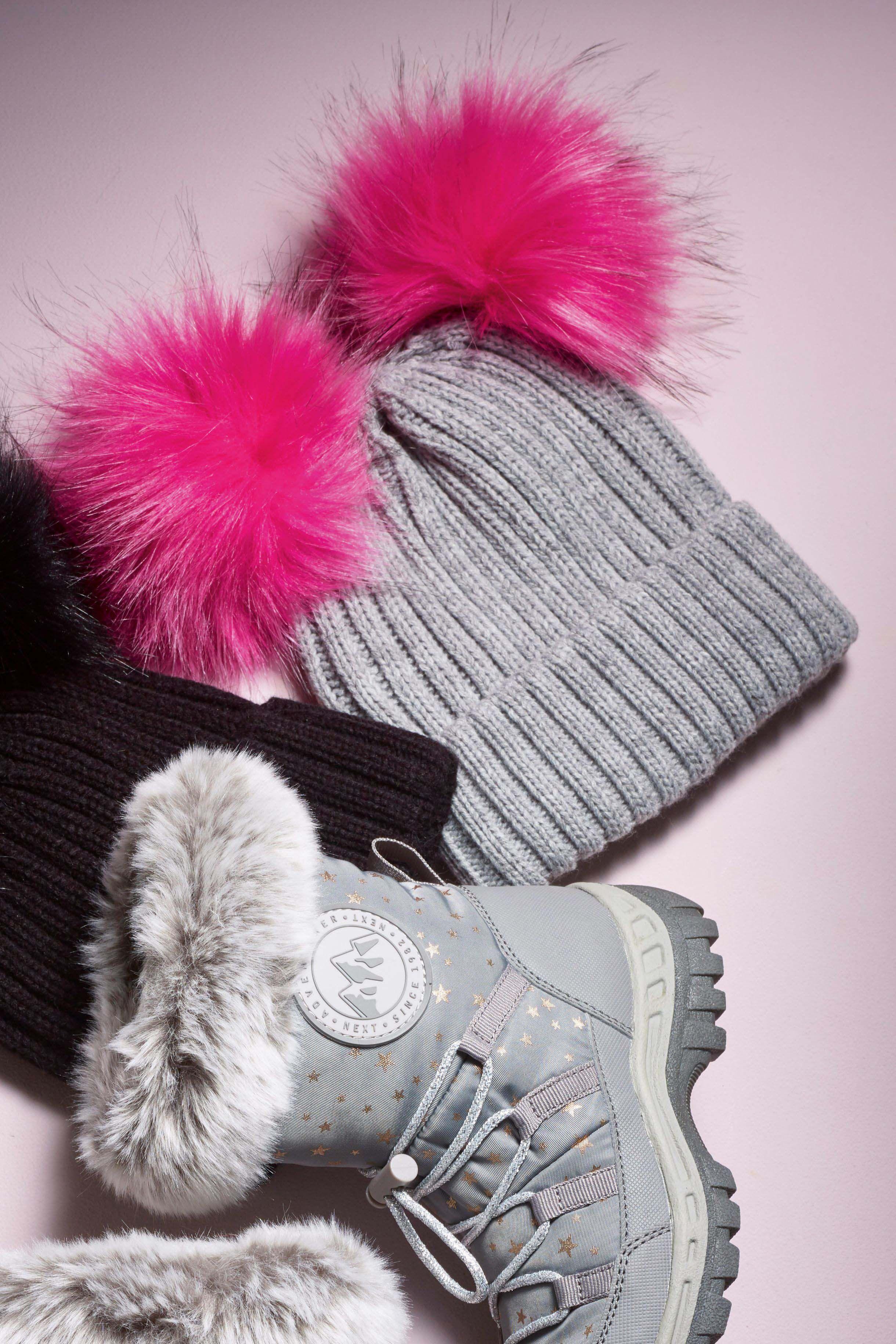 8c680394da8 Girls Next Grey Double Pom Beanie Hat (Older) - Grey in 2019 ...