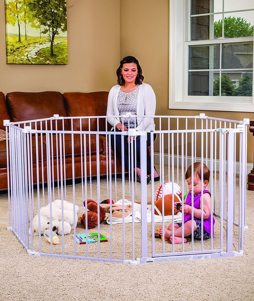 Baby Pet Dog Wide Metal Safety Gate Indoor Outdoor Child Playpen Fence Barrier Regalo Best Baby Gates Baby Play Yard Baby Gates