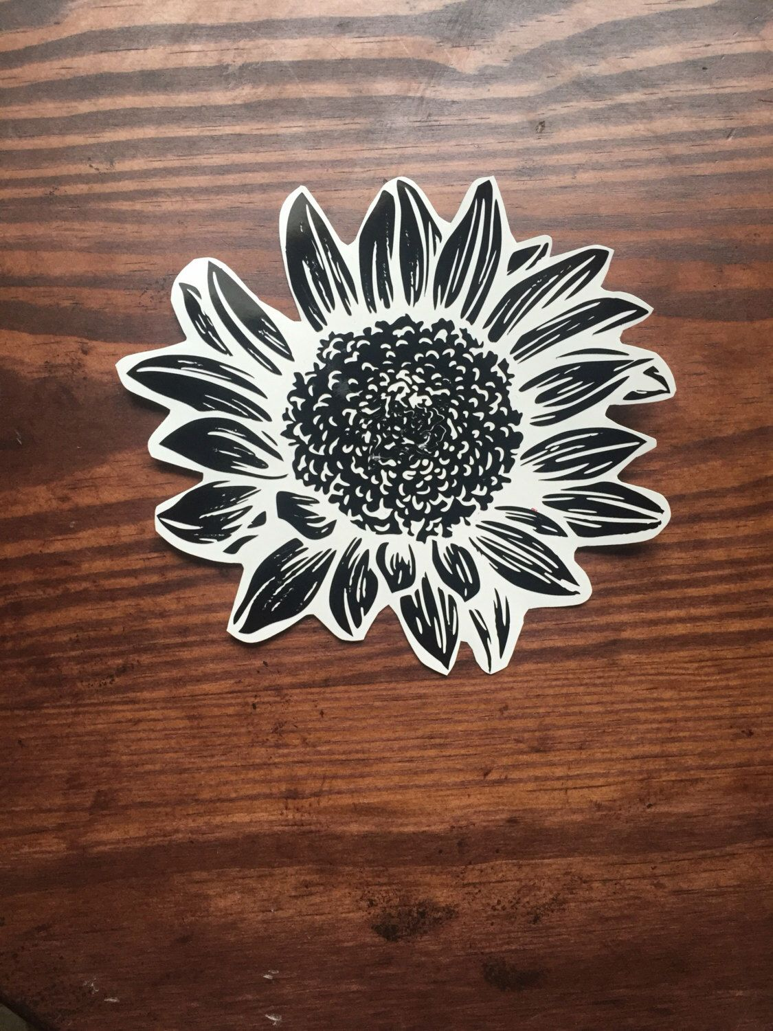 Sunflower Decal Flower Decal Car Decal Laptop Decal Black Flower Decal Tumbler Decal By Thelavenderdoily O Monogram Car Stickers Cars Clothes Car Stickers [ 1500 x 1125 Pixel ]