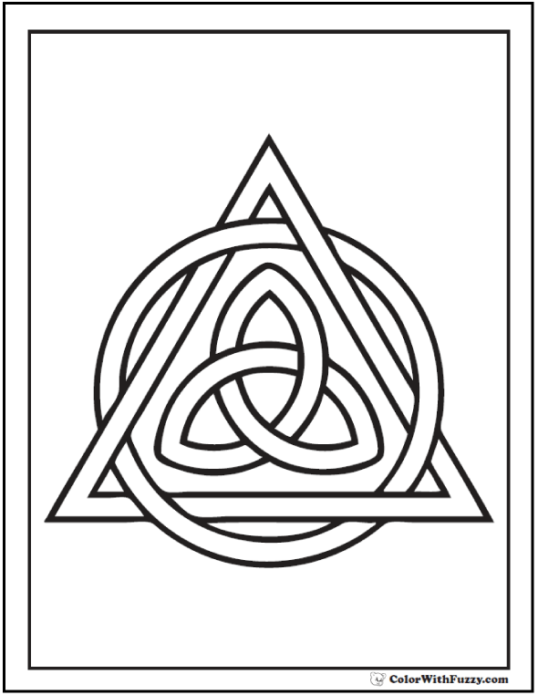 ColorWithFuzzy Celtic Coloring Pages Triangle Page