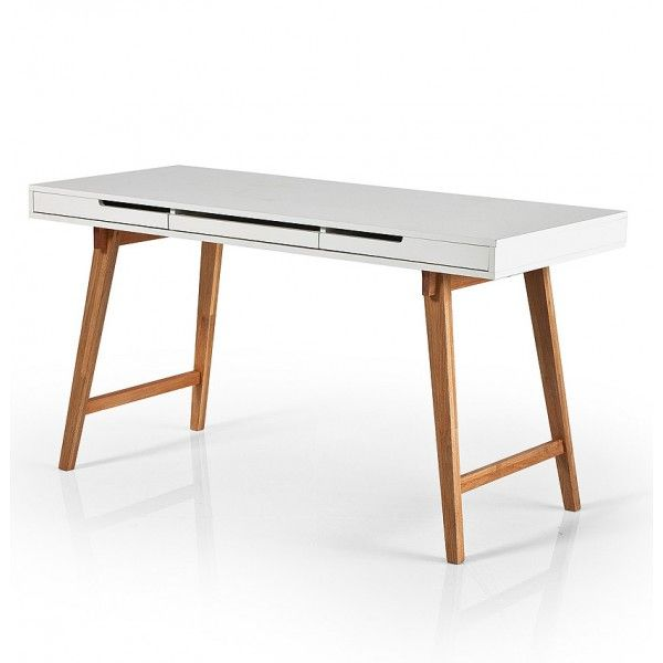 Bureau Sidetable Anna L 140 cm Wit 24Designs Kinderkamer