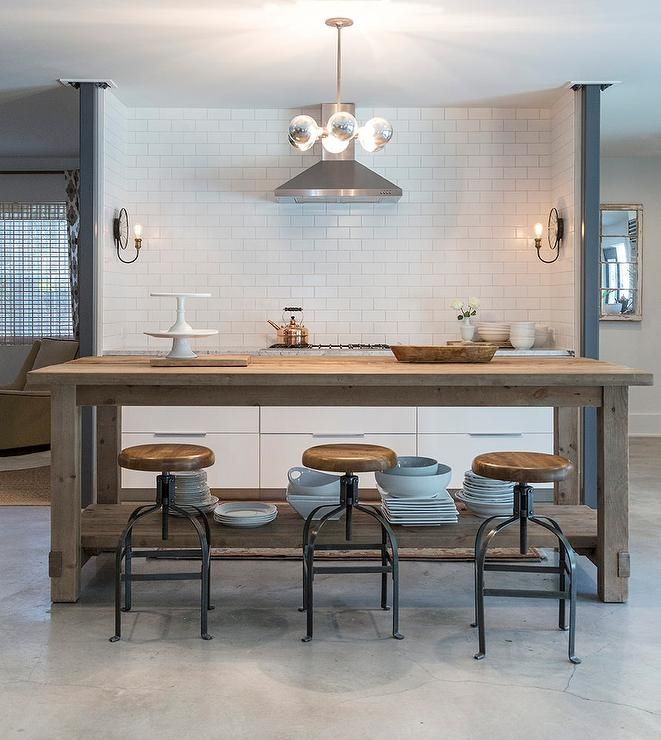 A gorgeous Restoration Hardware Salvaged Wood Island seats ...