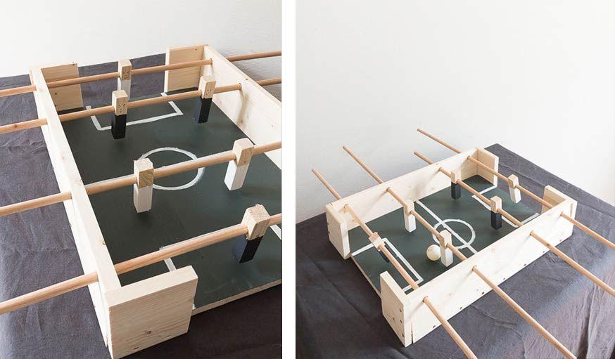 Tuto : Fabriquez un mini baby foot en bois pour une