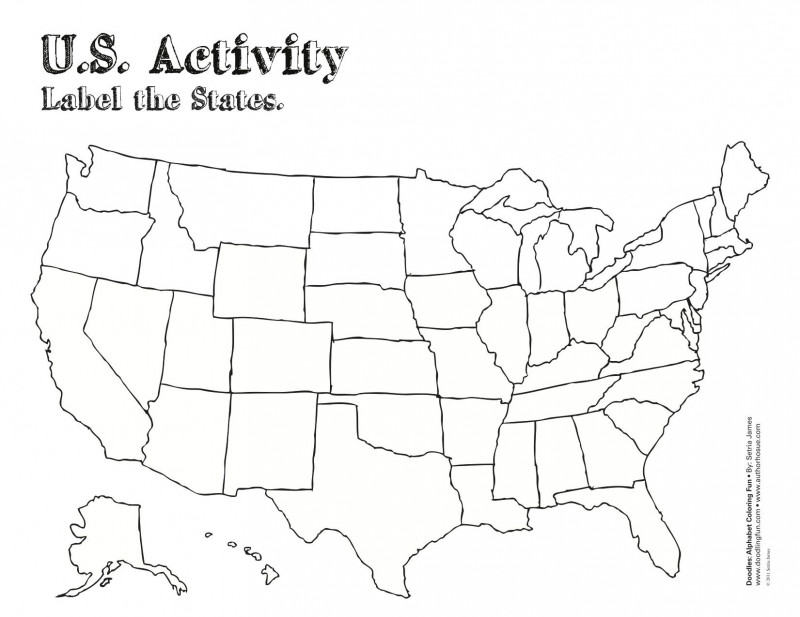 Blank Template Of The United States Unique Us Coloring Map Map