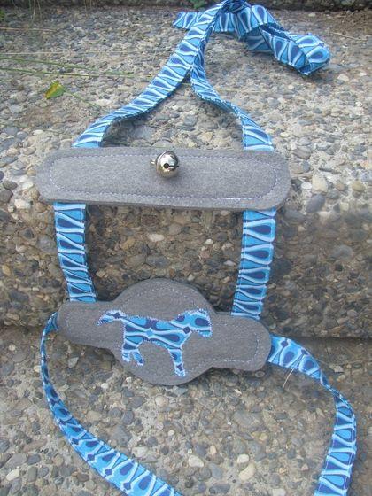 Rössligeschirr Pferdeleine Blau Stoffperle Onlineshop Kinder