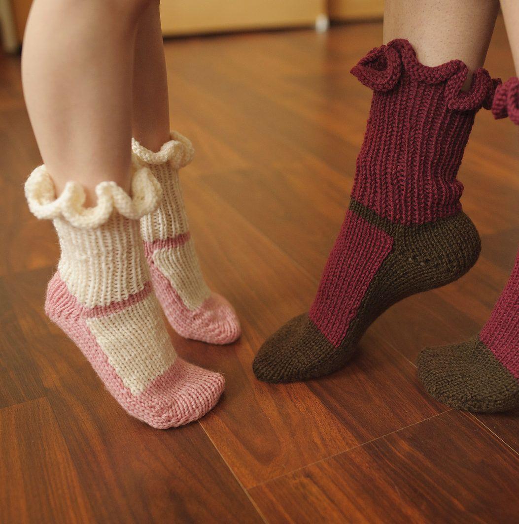 Knitting pattern for mary jane slipper socks these slipper socks knitting pattern for mary jane slipper socks these slipper socks with a mary jane shoe bankloansurffo Images
