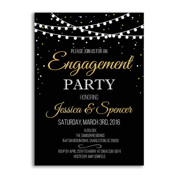 Engagement Party Invitation, Engagement Party Ideas, Wedding ...