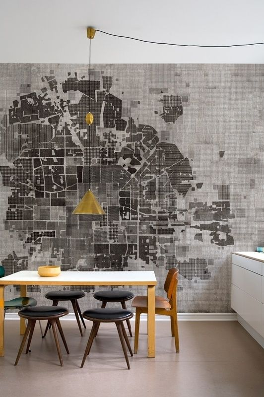City map mural home diy remodeling map craft idea pinterest city map mural home diy remodeling gumiabroncs Gallery