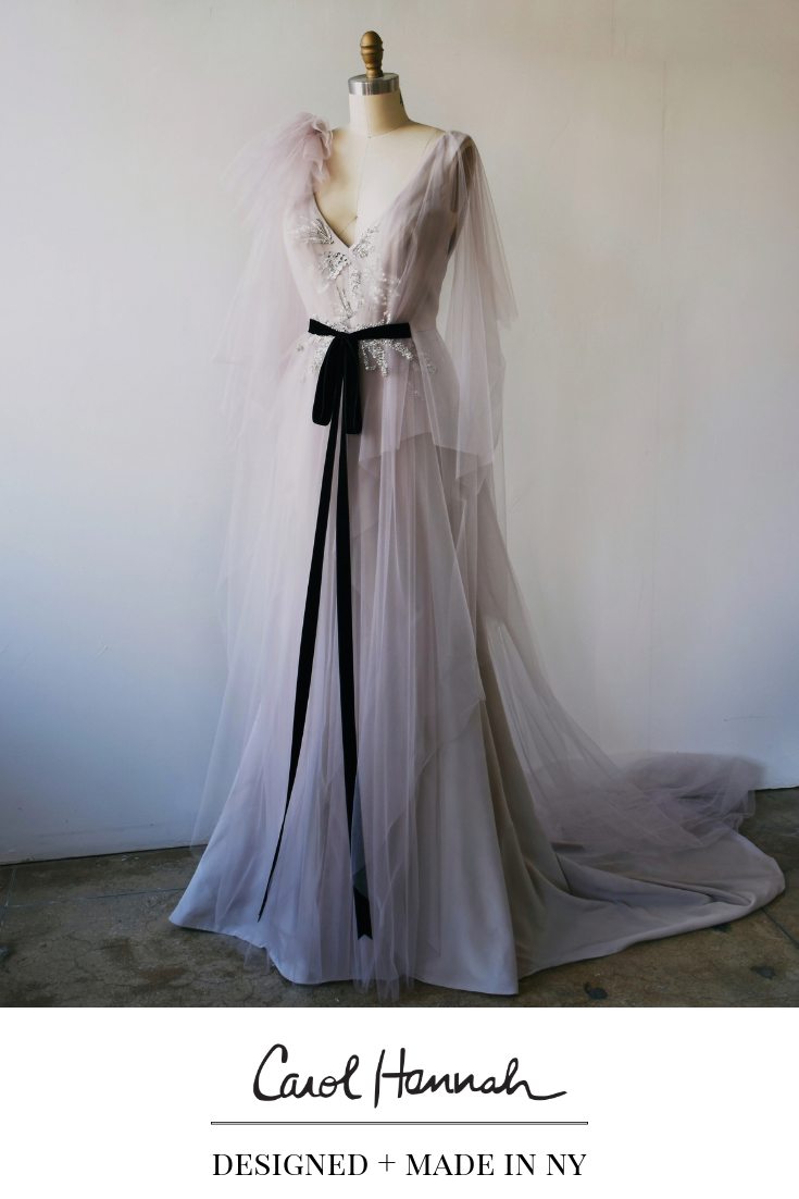Silver Gray Wedding Dress With Tulle Sleeves Sparkle Beading V Neck Trumpet Fit And Fla Grey Wedding Dress Nontraditional Wedding Dress Velvet Wedding Dress [ 1102 x 735 Pixel ]