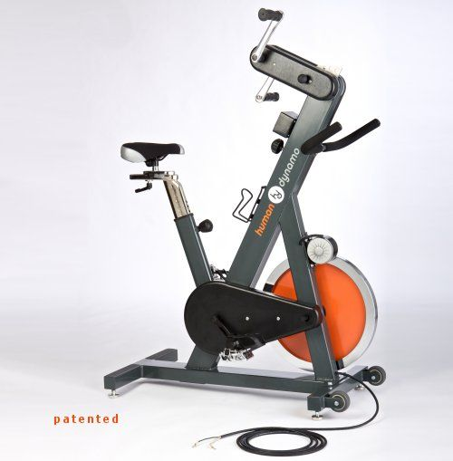 The Human Dynamo Is An Updated Cycling Machine That Creates Electricity While Providing A No Impact Upper Lower Body Cardio Workout Connect It To A Battery Ban