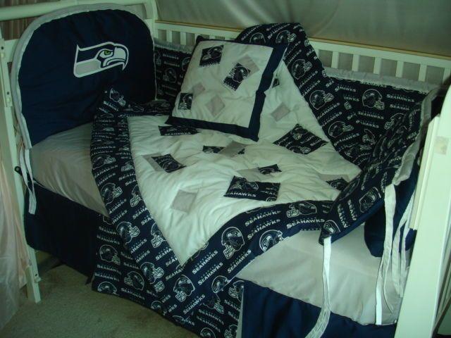 CUSTOM MADE Baby Nursery Crib Bedding Set made w/Seattle ...