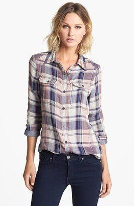Paige Denim Kadie Plaid Denim Shirt #15things #trending #fashion #style #leather #plaid #Paige