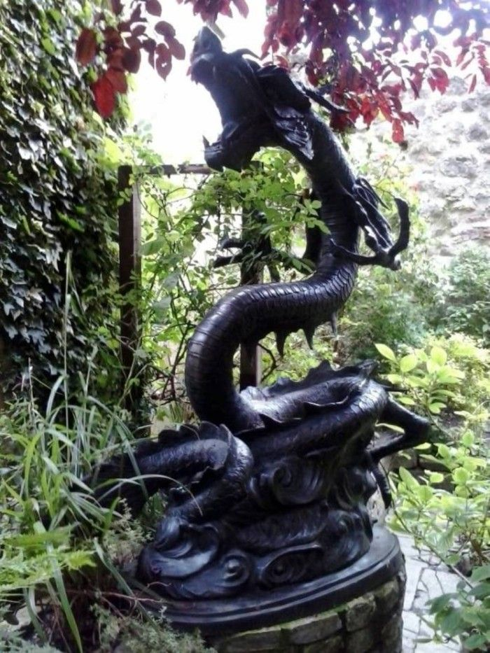 Dragon Garden Statue Art Pinterest Garden statues and Dragons