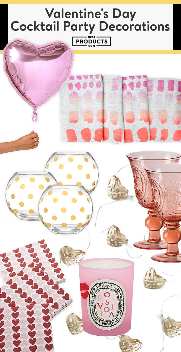 Valentine Cocktail Party Ideas Part - 36: 11 Valentineu0027s Day Cocktail Party Decor Must-Haves